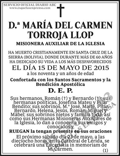 María del Carmen Torroja Llop
